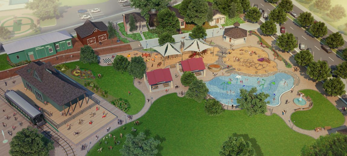 The only portion of the Grape Day Park Master Plan that is funded is the playground extension, which should be finished by summer. Courtesy rendering