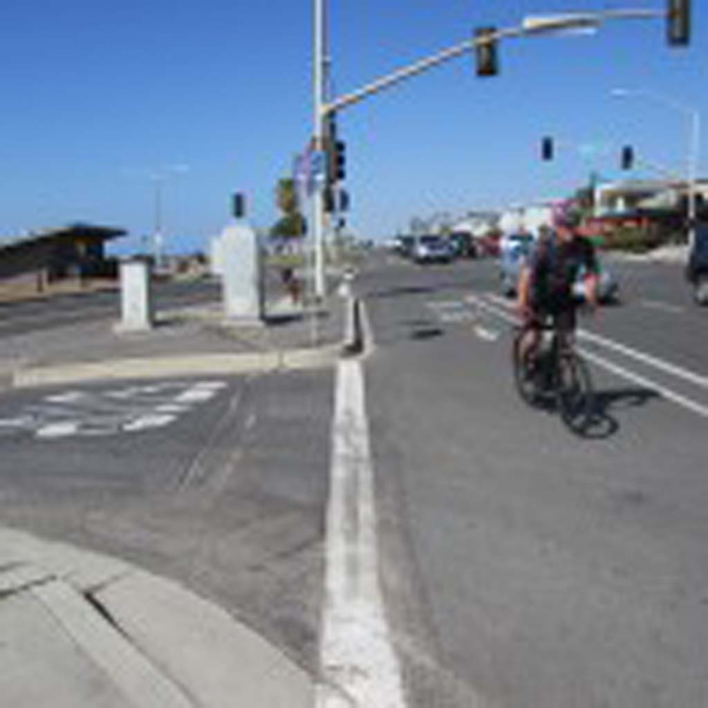 Assistant City Manager Gary Barberio says the intersection between Tamarack Avenue and Carlsbad Boulevard is dangerous for pedestrians. The crosswalk will receive a $6 million update to be completed by June 2017. Photo by Ellen Wright