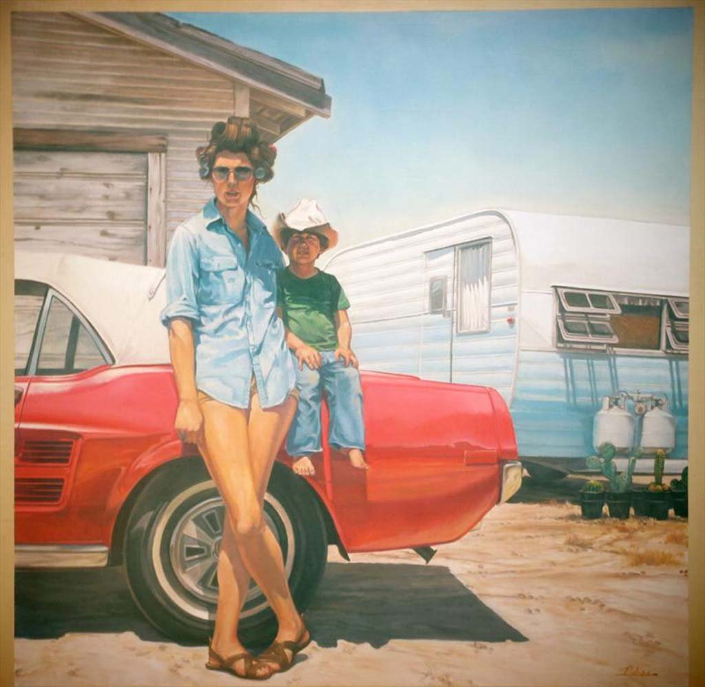 """""""The California Kid"""" (48"""" x 48"""" Oil on canvas) by Escondido artist Harry Bliss is one of 40 works of art featured in the San Diego Dreaming exhibition at OMA through June 21. Photo courtesy Harry Bliss"""