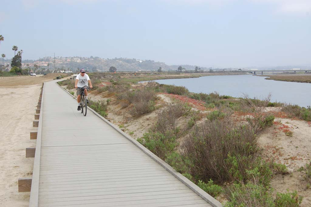 The California Coastal Commission denied a request to allow the 1,200-foot boardwalk along the San Dieguito River to remain where it is. The decision could change if an application recommending mitigation for the 1 acre of wetlands being lost because of the structure is submitted. Photo by Bianca Kaplanek