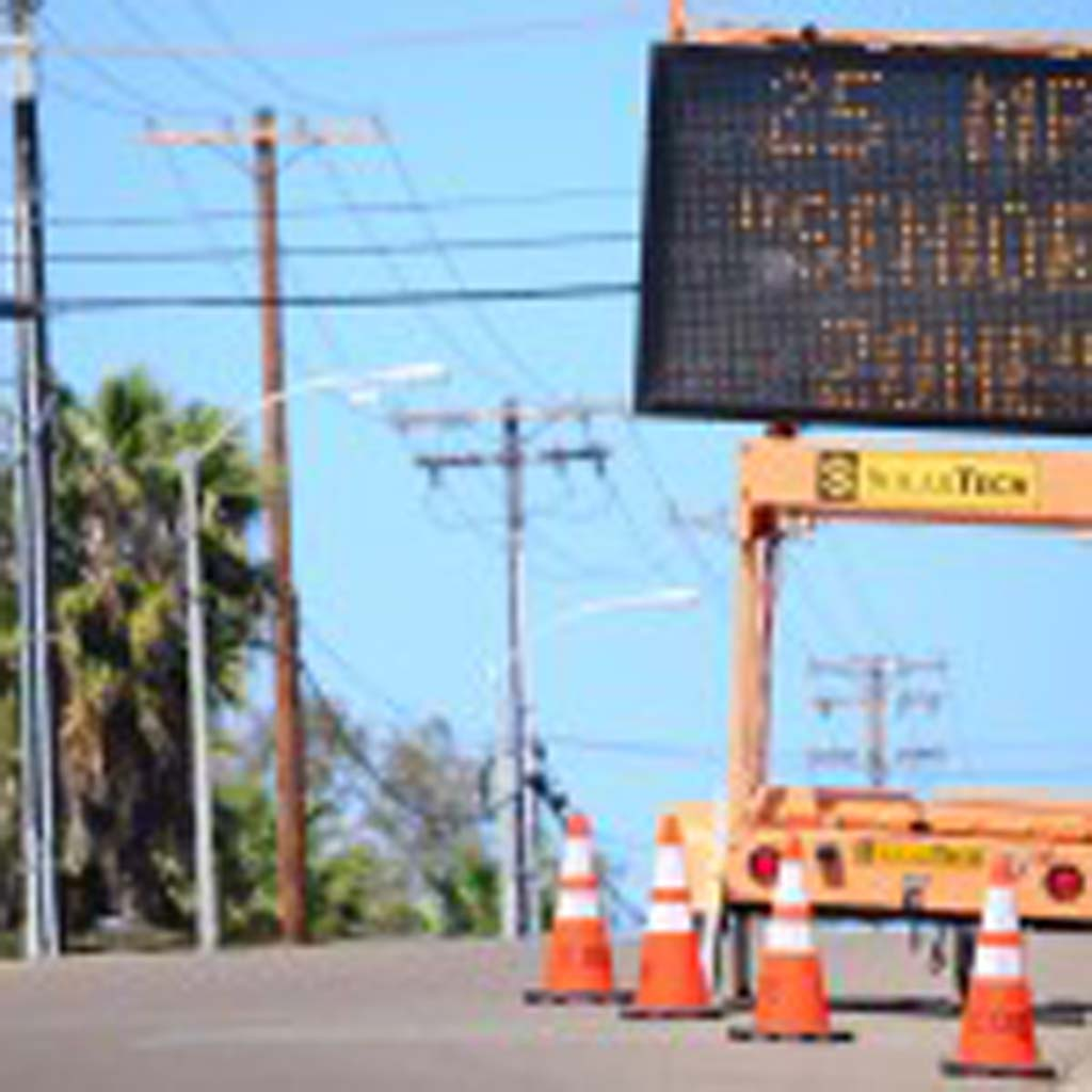 Beginning April 1, a 25 miles per hour Senior Zone will go into effect on Saxony Road in Encinitas. Photo by Tony Cagala