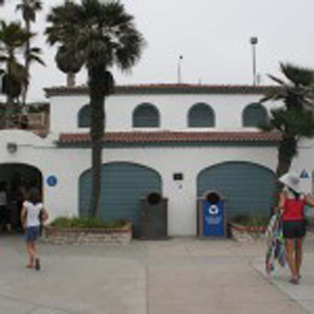 The Mission Avenue beach restrooms and plaza are set to get a make over. A new restroom building will be built in 2017. File photo by Promise Yee