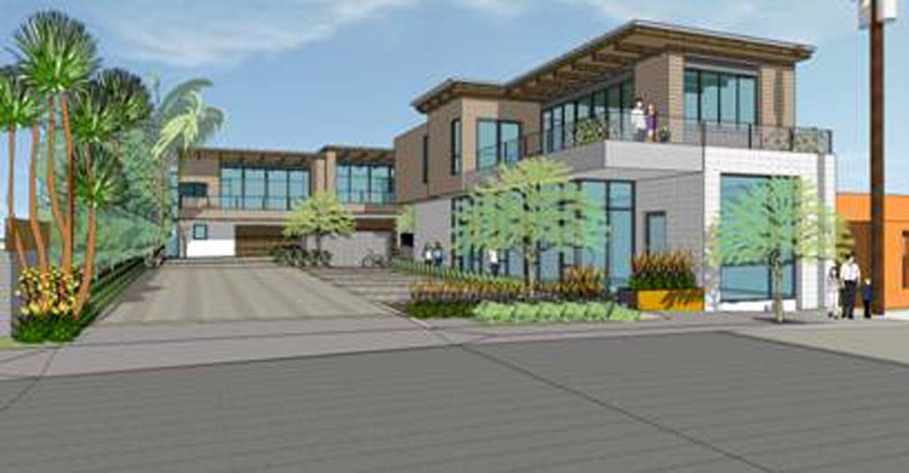 This mixed-use complex at 636 Valley Ave. finally received a thumbs up from council members at the Feb. 25 meeting, the fourth time in nearly two years the project was presented to them for approval. Courtesy rendering