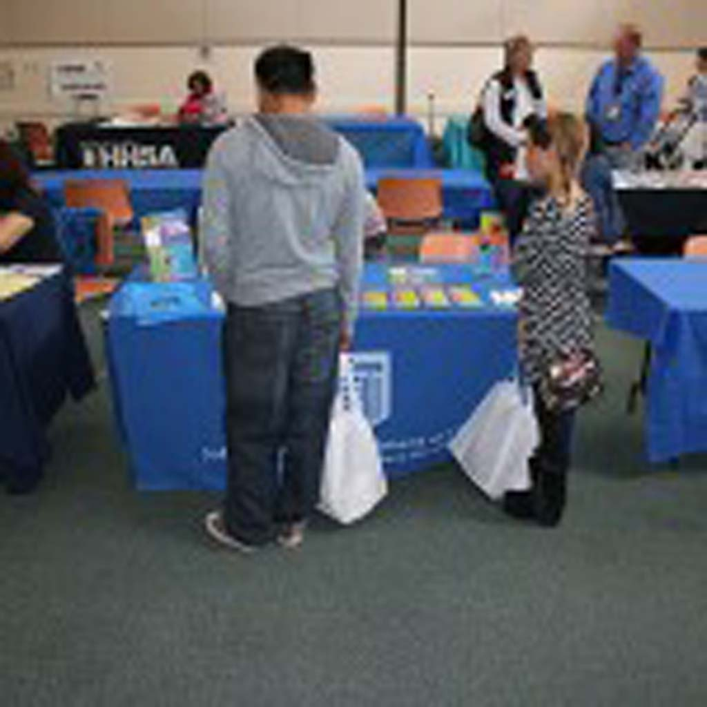Health, employment and education resources were shared at the resource fair Feb. 28. Free tax assistance for qualifying tax filers was also provided. Photo by Promise Yee