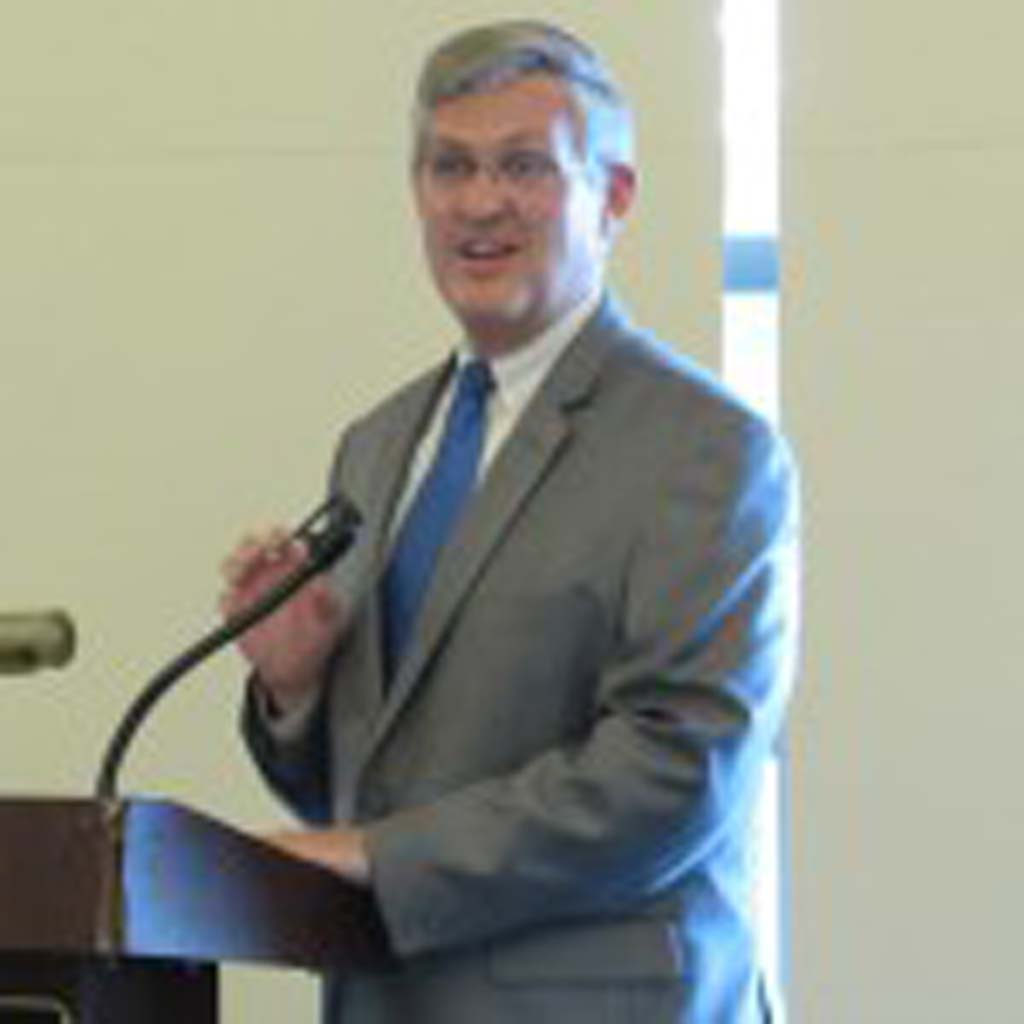 County Supervisor Dave Roberts spoke about the importance of Court Appointed Special Advocates, or CASAs, to a crowd of about 70 Tuesday night. Photo by Ellen Wright