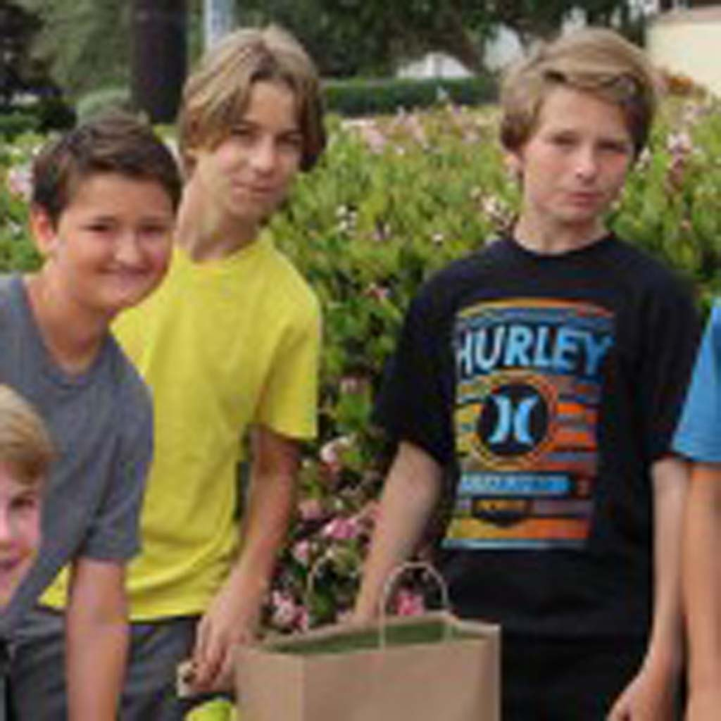 As part of an assignment for their seventh-grade humanities class, Earl Warren Middle School students Max Kornbluth, Zack Borthwick, Mazen Idriss, Nemo Leonelli and Finn Mallery raise $803 for the Leukemia & Lymphoma Society by holding a held a bake sale and three-on-three soccer tournament. Courtesy photo