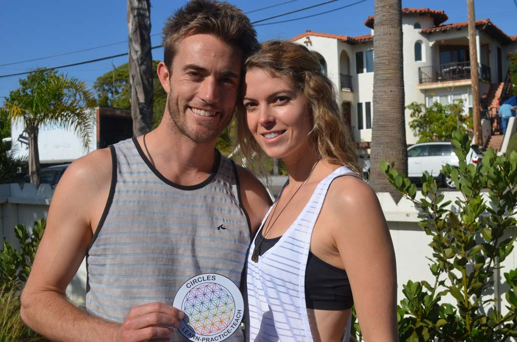 Chris Law, left, and Ashlee Shearer are hosting a pilot program at their Encinitas home aimed at instilling wellness in teens. Photo by Tony Cagala