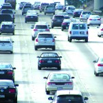 Caltrans and SANDAG are planning to add a carpool lane between Lomas Santa Fe and state Route 78 in each direction starting next fall. Commuters often get stuck in traffic between Carlsbad and Solana Beach during rush hour. Photo by Ellen Wright