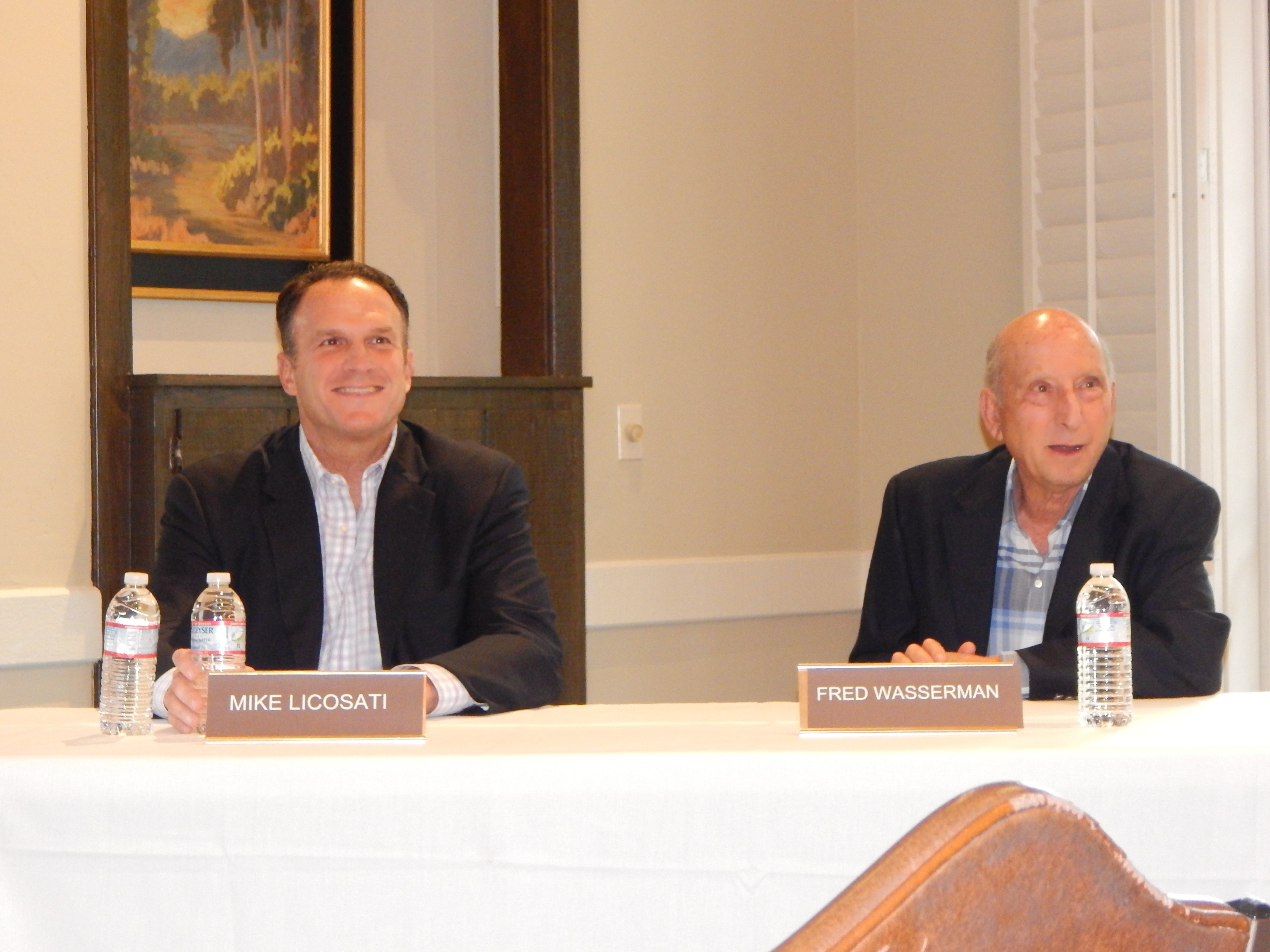 Mike Licosati, left, and Fred Wasserman will begin their three-year terms as Rancho Santa Fe Association directors July 2. File photo by Christina Macone-Greene
