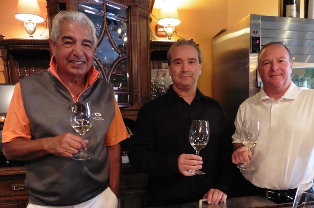 The PAON team from left: owner Mayur Pavagadhi, Master Sommelier Gino Campbell and General Manager Steve Barr. Photo by Frank Mangio