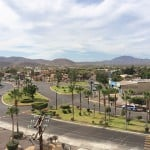 From the rooftop of the Hotel Santa Fe, you can see the manicured landscaping of Loreto's main street. Photo by Jerry Ondash