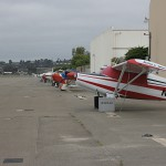 Improvements have been made to Oceanside Municipal Airport including construction of new hangars. The airport management company shared updates last Wednesday. Photo by Promise Yee