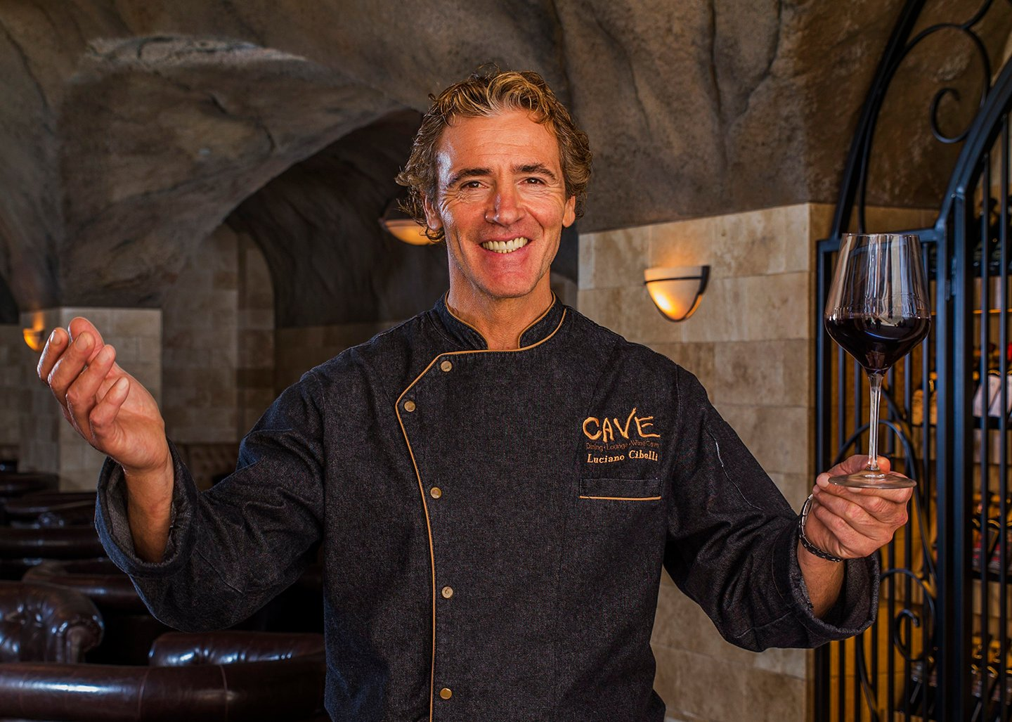 Executive Chef Luciano Cibelli welcomes all to Pala Casino's new underground wine CAVE for lounge dining, fine wine and entertainment. Photo courtesy Pala Casino Spa and Resort