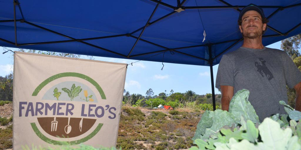 """Ryan """"Farmer Leo"""" Goldsmith isn't expecting the lease on land where he started his organic farm and farm stand to be renewed. He's started to look for new land and opportunities to continue his farming in Encinitas. File photo"""