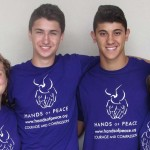 Hands of Peace aims to promote change and encourage peace in the Middle East. From right, Alyssa, Yonatan, Omar and Randa are participating for their second year and all said the experience has been eye opening. Photo by Ellen Wright