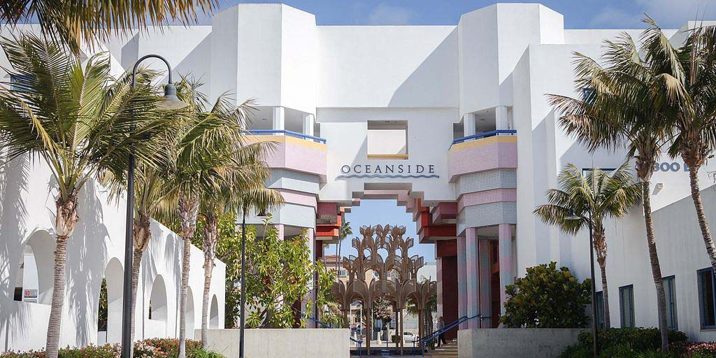 A view of the Civic Center in Oceanside, California. Photo by Visitor7 courtesy of WikiMedia