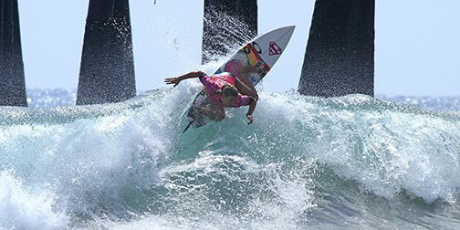Sage Erickson, who won the 2014 SuperGirl Pro, returns to Oceanside to defend her crown in this year's event beginning July 24. Photo by C. Nelson
