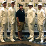 """Nine Carlsbad High School drumline members were part of a 34-member ensemble that introduced """"The Hunger Games"""" panel at Comic-Con last weekend. Courtesy photo"""