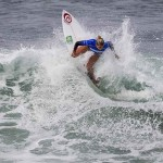 Leilani McGonagle surfs in last year's Supergirl Pro in Oceanside. File photo by Bill Reilly