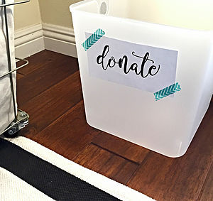 """Professional Organizer Danielle Hass tells clients, """"The No. 1 thing preventing most people from staying on top of clutter is not having a donation box."""" Courtesy photo"""
