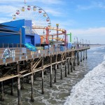"You are looking at the historic Santa Monica Pier from the north side. This iconic landmark and the ceremonial terminus of the old Route 66 was built in 1909. The Ferris wheel is one-of-a-kind, powered by solar panels. You can also see the rails of the Blue Streak Racer, a wooden roller coaster that once belonged to the long-gone Wonderland amusement park in San Diego. Dozens of TV shows, music videos and films have been made here, including ""Titanic,"" ""Forrest Gump,"" ""Elmer Gantry,"" ""Iron Man,"" ""Grey's Anatomy,"" ""Modern Family"" and ""Amazing Race."" (Photos by Laurie Brindle)"