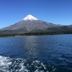 The Osorno Volcano in the Los Lagos Region of Chile stands at 8,701 feet tall and is one of the most active volcanoes in the Chilean Andes. Its upper slopes are covered in glaciers. Many compare its appearance to Japan's Mount Fuji. Photo by Kitty Morse