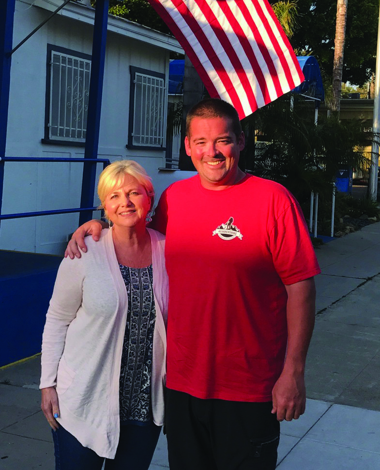 Smith visited the American Legion for about 90 minutes in Encinitas on May 3, enjoyed breakfast at the Encinitas Cafe and stayed overnight at a vacation home owned by local resident Lise Mahoney