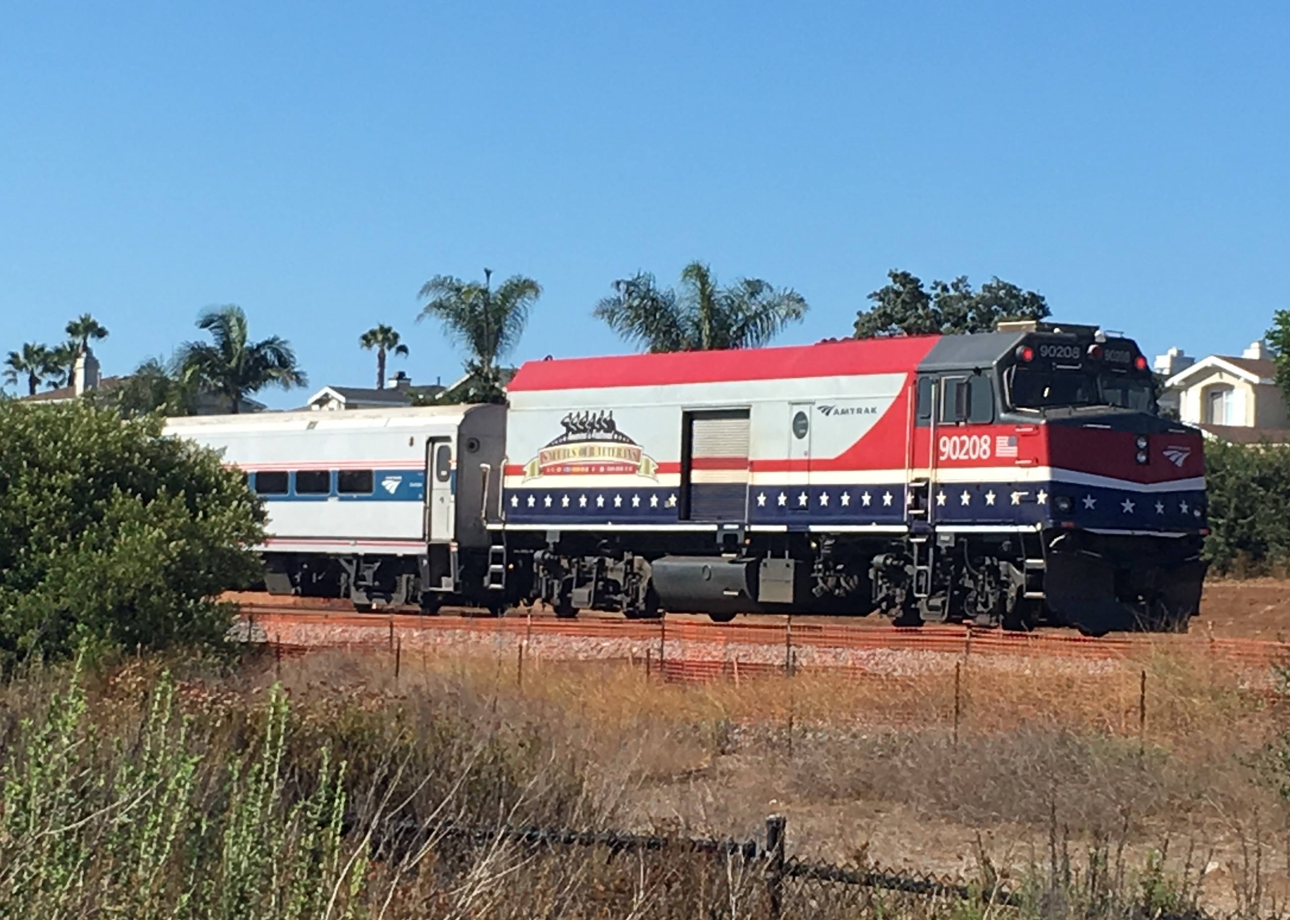 A person was hit and killed by an Amtrak train on July 23 at the Poinsettia Station in Carlsbad. Steve Puterski photo