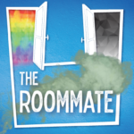 Visual for The Roommate with blue background