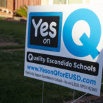 political sign telling people to vote yes on measure q