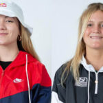 Encinitas skateboarding prodigies Brighton Zeuner, left, and Bryce Wettstein, will compete in the Women's Park event on Aug. 4 at the Tokyo Olympics.