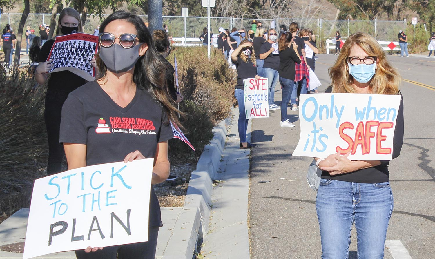 Carlsbad Unified protest teachers students