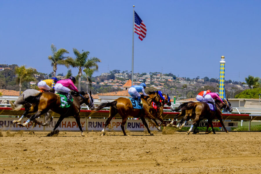 Del Mar Racetrack easily surpassed its previous handle record, with more than $21 million bet on Opening Day, July 16, as fans returned to the track for the first time since the COVID-19 pandemic began