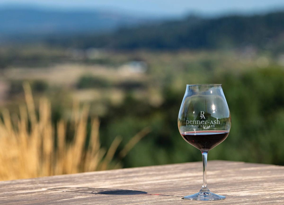 Penner-Ash Wine Cellars 2019 Willamette Valley Pinot Noir showcases the balance and purity of fruit, evident in Pinot from Oregon. Photo via Facebook/Penner & Ash Wine Cellars