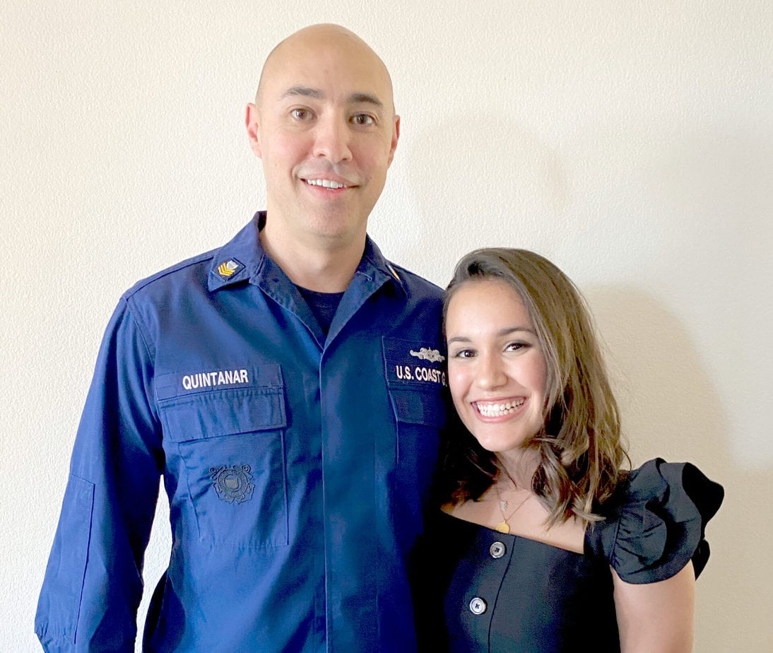 San Marcos resident Ryane Quintanar was awarded the Abbott L. Brown Scholarship. She is attending Loyola University Chicago this fall. Photo via Coast Guard Foundation