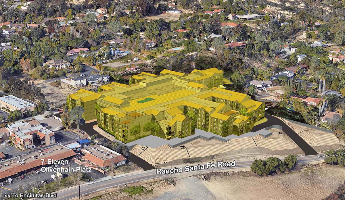 The Goodson Project proposes 277 for-lease units near Encinitas Boulevard and Rancho Santa Fe Road in Olivenhain.