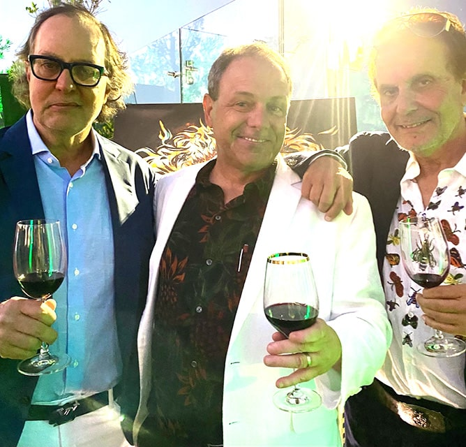 Daniel Daou, from left, Taste of Wine and Food's Rico Cassoni and Georges Daou at 2018 Soul of a Lion launch party in West Hollywood. Photo courtesy of Rico Cassoni
