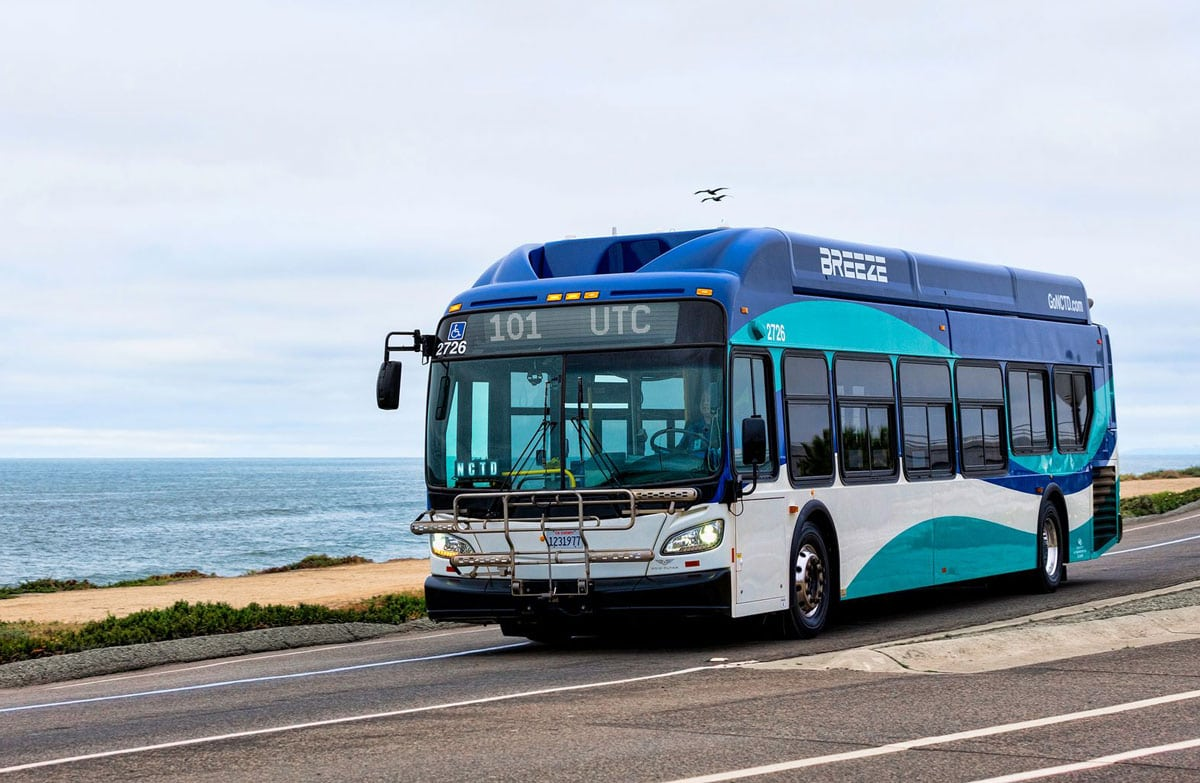 Over the last few months, trip cancelations have become more frequent for the North County Transit District's Breeze bus system. Photo via Facebook/NCTD