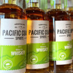 Pacific Coast Spirits' white rye whiskey is made of 60% rye and 40% Golden Promise barley and distilled for eight hours. Photo courtesy of Pacific Coast Spirits