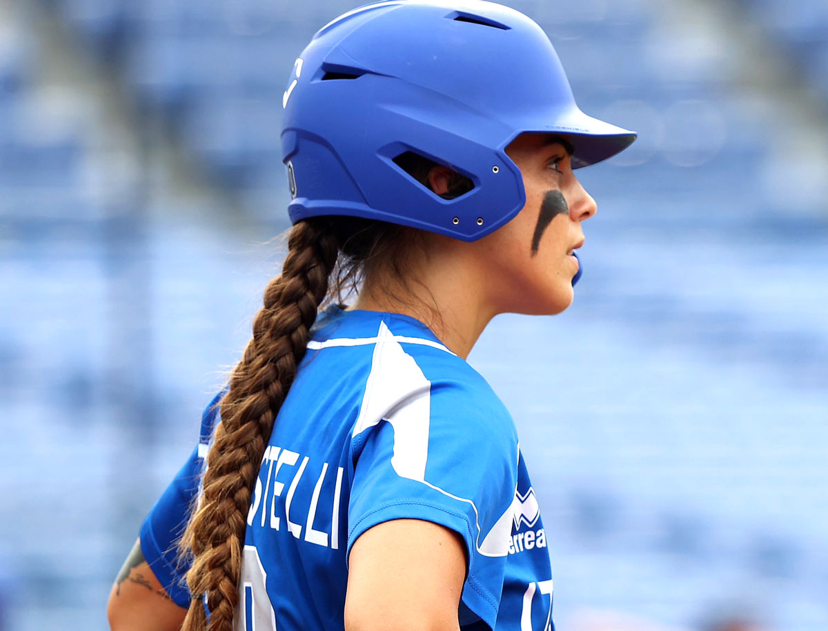 Carlsbad High School alum Erika Piancastelli, 25, played for the Italian women's national softball team at the Summer Games in Tokyo. Photo via Twitter