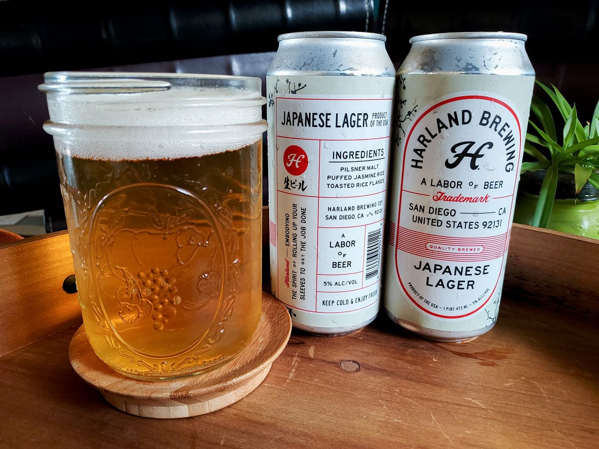 """Harland Brewing puts its motto, """"A Labor of Beer,"""" on every can. Photo by Ryan Woldt"""