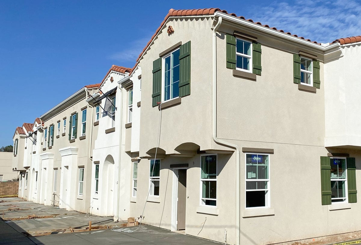 Hallmark Communities recently finished Mission 24, above, a residential development in San Marcos. The developer is also nearing completion of The Breakers in Oceanside, slated to open next year. Photo courtesy of Hallmark Communities