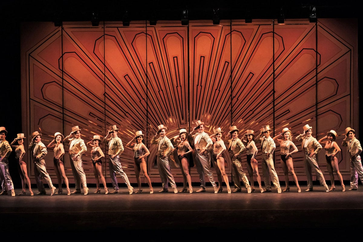 """""""A Chorus Line,"""" the longest-running Broadway production until 1997, is playing at the Moonlight Amphitheatre in Vista through Sept. 4. Photo by Ken Jacques Photography"""
