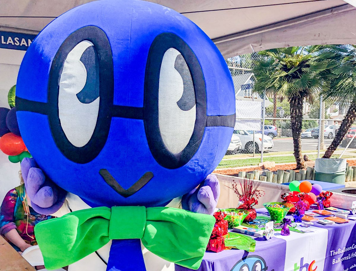 Faraday, the life-size mascot for The Balloon Council, will be at EcoFest Encinitas this Sunday, Sept. 26, at Cottonwood Creek Park in Encinitas. Courtesy photo
