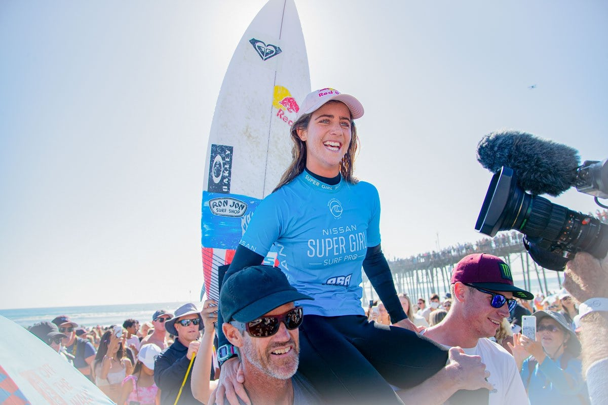 Florida native Caroline Marks defeated Oceanside's Caitlin Simmers in Sunday's final to claim the Supergirl title. Photo by Kurt Steinmetz