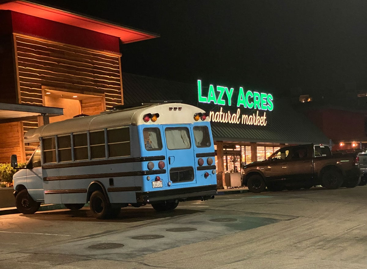 Gatsos unmistakable blue school bus was often seen at Lazy Acres and Swami's Beach parking lot. Courtesy photo