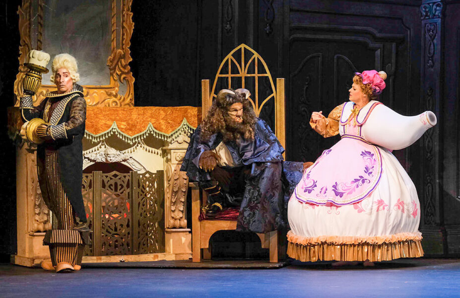Michael Paternostro (Lumiere), Michael Deni (Beast) and Moonlight veteran Bets Malone (Mrs. Potts) discuss how to break the spell that has changed them all.