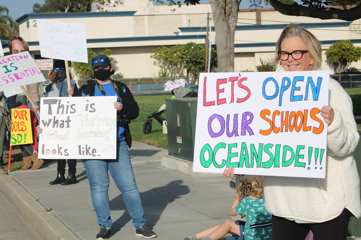 Oceanside Unified protest