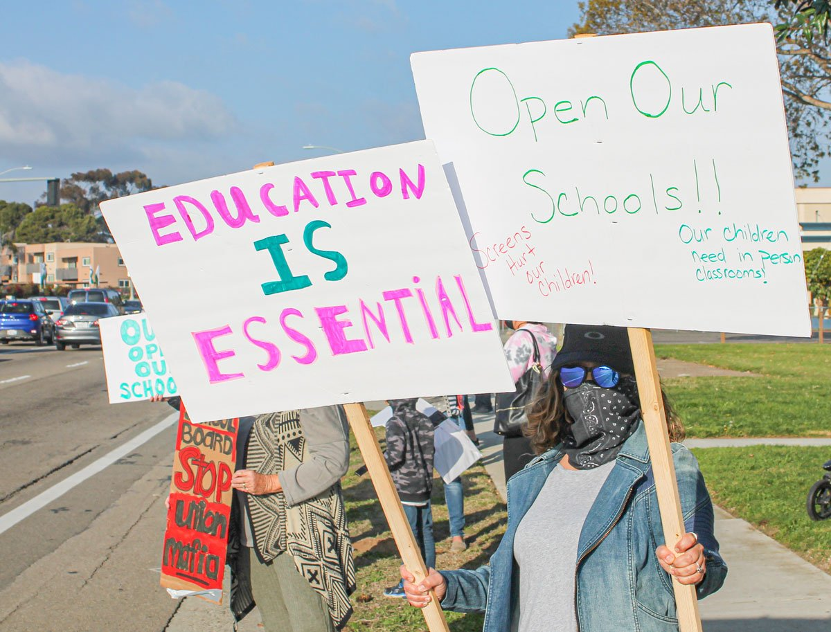 Oceanside Unified School District protest