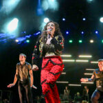 """Actress Ariella Kvashny stars as Gloria Estefan in the Broadway musical, """"On Your Feet!"""" now playing at Moonlight Amphitheatre in Vista. Photo by by Adriana Zuniga"""